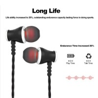 Deepbass In-Ear Metal Bluetooth Headset Stereo MS-T5 – Μαύρο