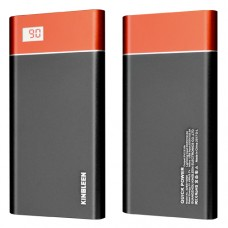 Kingleen 328S LCD Metal Power Bank 10000mAh – Μαύρο/Κόκκινο