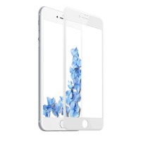 Baseus Fullcover Tempered Glass PET Soft 3D 0.23mm για Apple iPhone 7/8 – Λευκό (SGAPIPH8N-PE02)