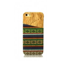 Exclusive OEM TPU Ethnic Wood Pattern Back Cover για Apple iPhone 6 Plus/6S Plus - Blue/Green