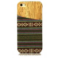 Exclusive OEM TPU Ethnic Wood Pattern Back Cover για Apple iPhone 6 Plus/6S Plus - Brown/Green
