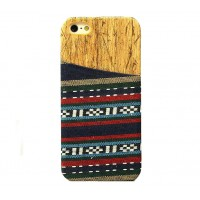 Exclusive OEM TPU Ethnic Wood Pattern Back Cover για Apple iPhone 6 Plus/6S Plus - Dark Blue
