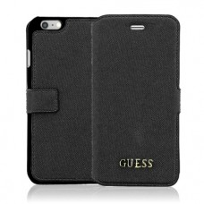 Guess Saffiano Book Case για Apple iPhone 6/6S – Μαύρο (GUFLBKP6TBK)
