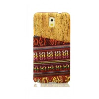 Exclusive OEM TPU Ethnic Wood Pattern Back Cover για Samsung Galaxy S6 - Red/Yellow