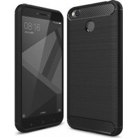 OEM TPU Carbon Fiber Brushed για Xiaomi Redmi 4X - Μαύρο