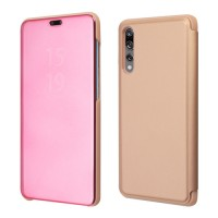 Okkes Book Case Milo Clear View για Huawei P20 Pro – Rose Gold