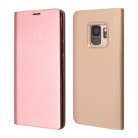 Okkes Book Case Milo Clear View για Samsung Galaxy S9 Plus – Rose Gold