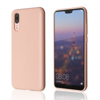Okkes Liquid Silicone Case για Huawei P20 – Pink Sand
