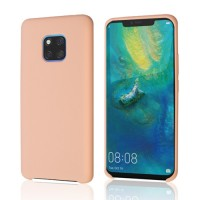 Okkes Liquid Silicone Case για Mate 20 Pro – Pink Sand