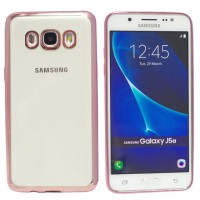 OEM TPU Electro Jelly Case για Samsung Galaxy J7 (2016) – Clear/Rose-Gold