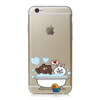 Exclusive Back Case Brown & Cony s Shower για iPhone 6/6S (HM25) – Λευκό