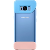 Original Samsung 2 Piece Cover EF-MG950CLE για Samsung G950 Galaxy S8 – Blue/Peach