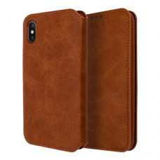 Xundd Book Case Gra Series για Apple iPhone XS Max - Καφέ